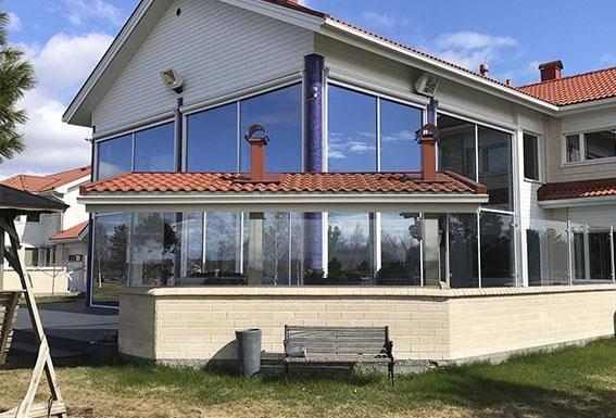 Glasning privata bostäder dörrar, fönster och fasadsystem i aluminium corrotech